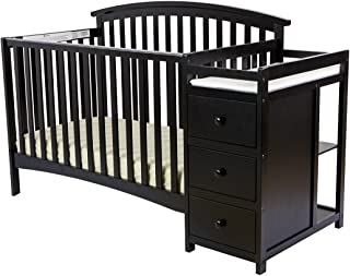 Dream On Me Niko 5-in-1 Convertible Crib with Changer, Black