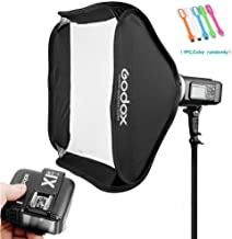 Godox AD600BM Bowens Mount 600Ws GN87 HSS Outdoor Flash Strobe Light Studio Monolight with X1T-N Wireless Trigger Transmitter with 80x80cm/32x32 inches Softbox Compatible for Nikon Cameras