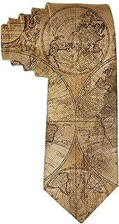 Men's Fashion tie World Map Necktie One Size Neck Tie