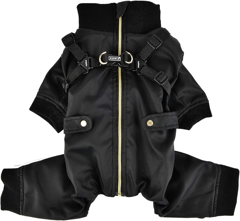 Puppia PLSDJP1663BKL Garnet Pet Coat, Black, Large