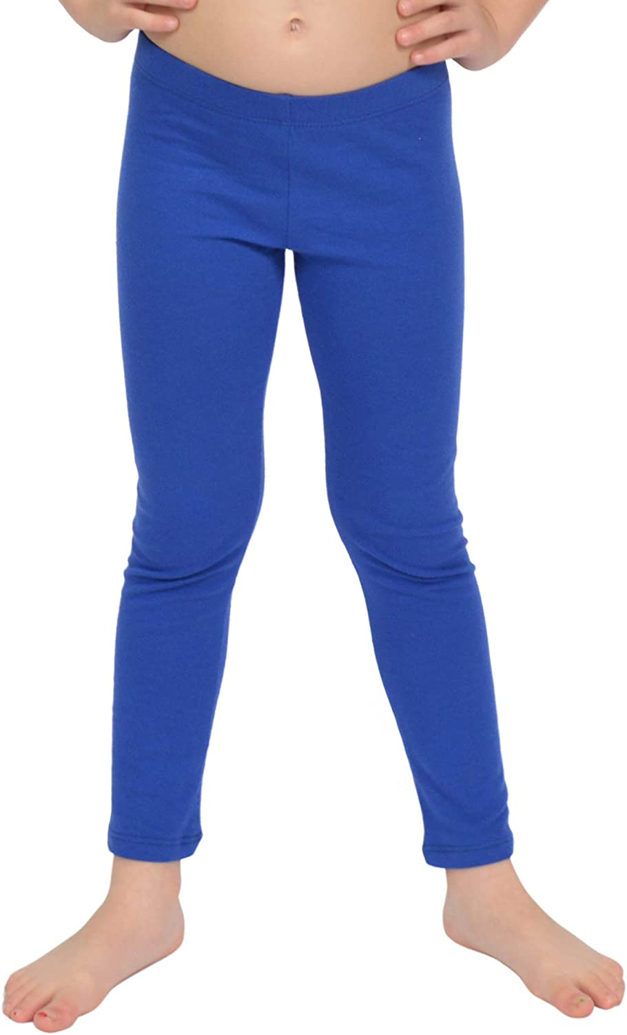 Stretch is Comfort Cotton Metallic and Print Girls Footless Leggings