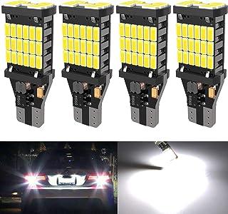 4PCS Super Bright 921 T15 912 W16W LED Reverse Lights,...