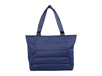 Hedgren Kyela 3 Compartment Puffer Tote (Halo Blue) Bags