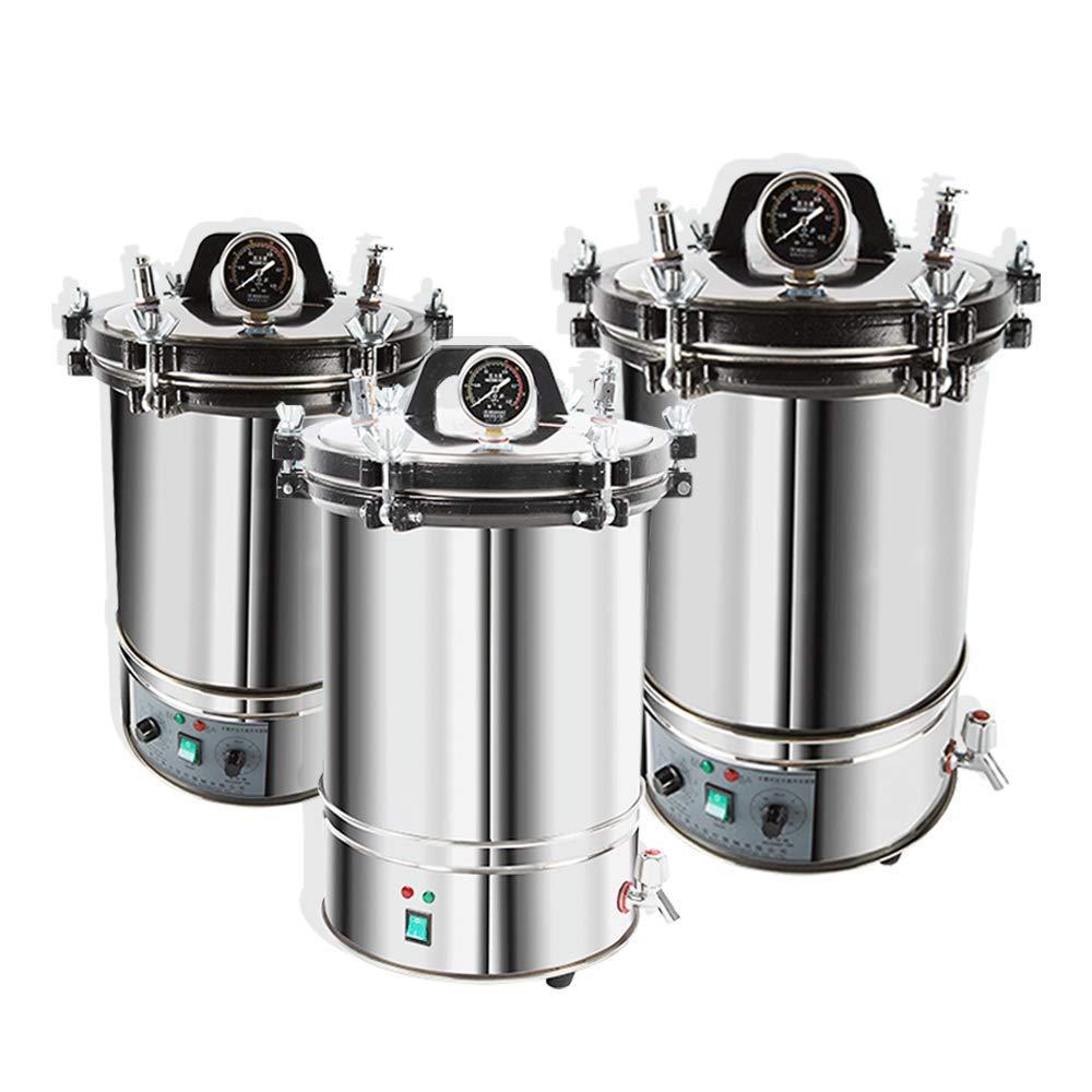 hzexun Esterilizador de calor Autoclave esterilizador de vapor de alta presión para equipos médicos dentales (Normal,24L)