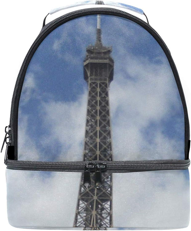 Schulter Double Lunch Bag Eiffelturm Blau Sky Kühler verstellbarer Gurt Gurt Gurt für Picknick B07GJM2ZLP  Räumungsverkauf 65c8fa