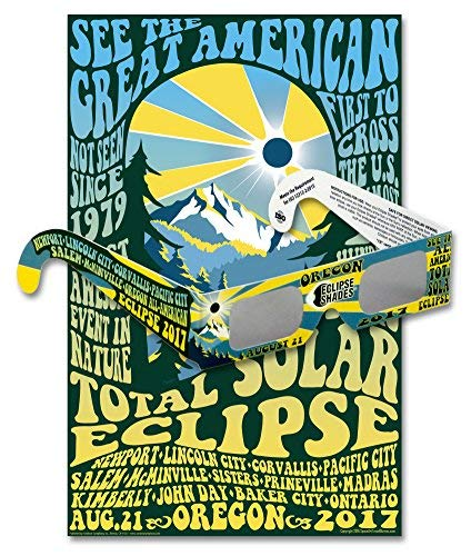 Eclipse Glasses for Total Solar Eclipse 2017 Oregon (5 Pack) - CE & ISO Certified – Includes Oregon Commemorative Poster - Made in USA
