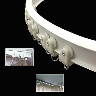 SuperMMarK 9.8 Feet Silent Curved Curtain Orbit Balcony & Window Flexible Bendable Track Top Mounting