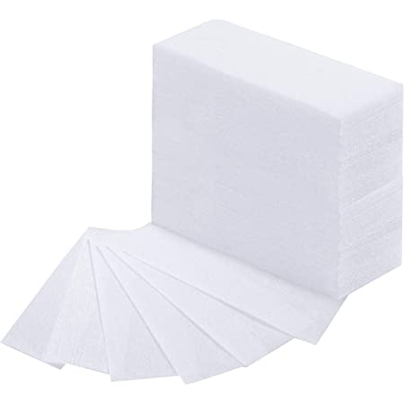 400 Pièces Bandes de Cire pour le Visage et Bandes de Cire pour l'Épilatoire du Corps Papier de Bande de Cire Épilatoire non Tissé pour Bikini, Blanc