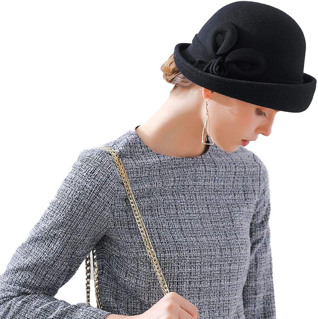 BAIMORE 100% Wool Max 69% NEW OFF Felt Cloche Bucket Wedding Bowler Hat Win Hats