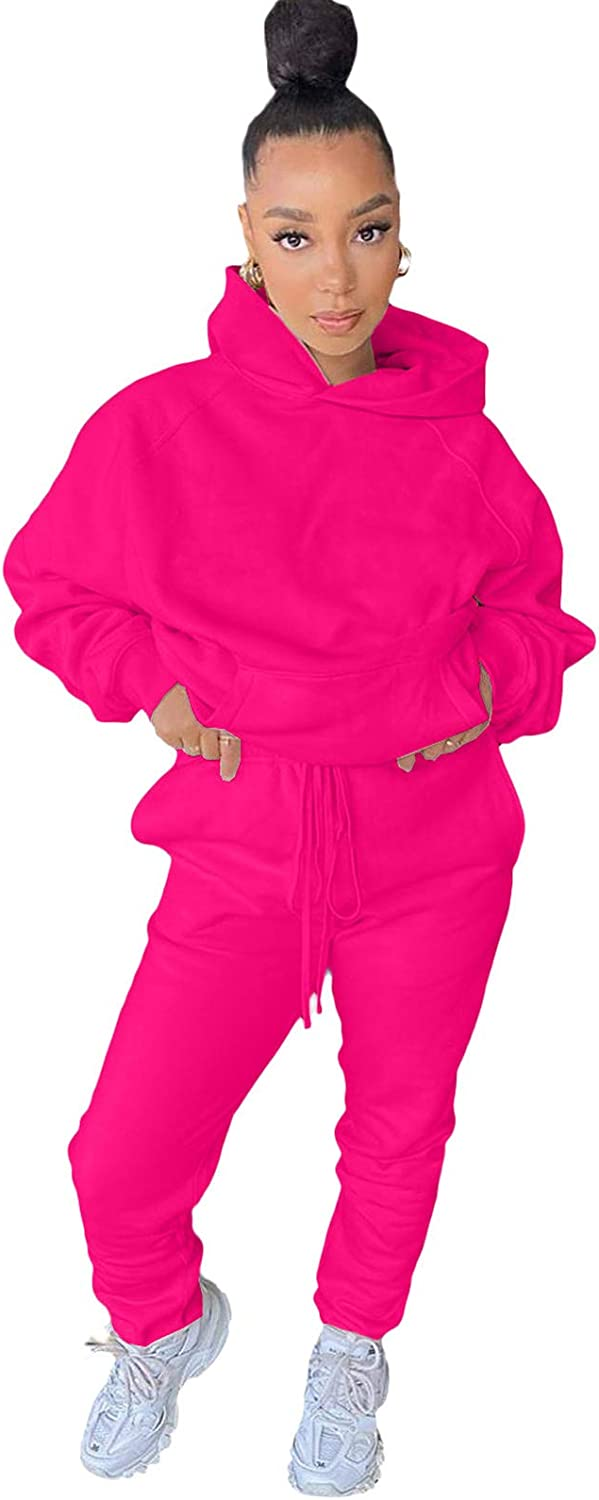 Women 2 Piece Outfits Short Sleeve Crop Top Shirts Drawstring Ruched Skinny Pants with Pockets Jogger Sets Solid Color