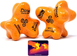 Divine (Citrus)(Set of 2) Synergy Stones - Pro Hot Stone Massage Tools - Blend Heat, Relaxing and Therapeutic Massage for Deep Muscle Tension Relief - Free YouTube Training Videos