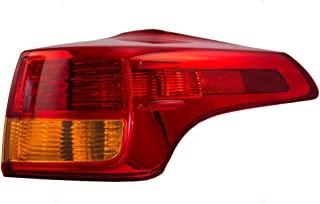 Passengers Taillight Tail Lamp Quarter Panel Mounted Lens Replacement for 13-15 Toyota RAV4 81551-42160 AutoAndArt