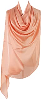 PB-SOAR Damen Glänzend Einfarbiger Schal Seidenschal Halstuch Stola 180 x 100cm, glatt und leicht, 18 Farben auswählbar