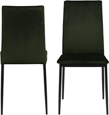 Cooper & Co. Living Emily Dining Chairs Set of 4, Olive Green