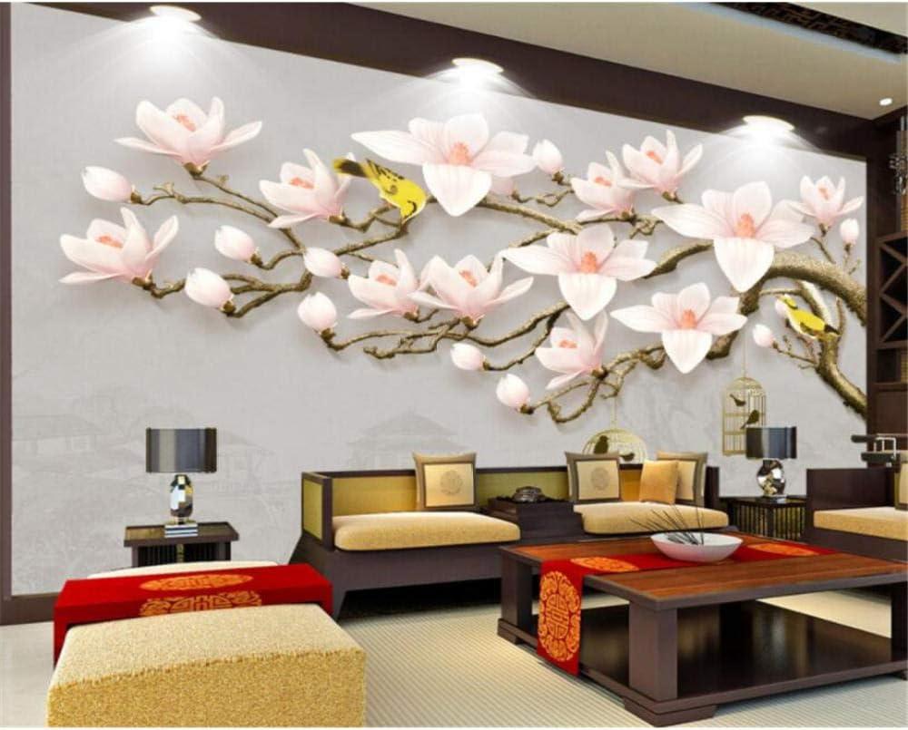 Custom Wallpaper Max 78% OFF Mural 3D Background Magnolia Embossed Classical Portland Mall