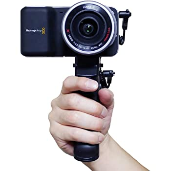 Blackmagic Pocket Cinema Camera & Sony Handycam ピストル型ハンドグリップ (リモートシャッター機能付き)