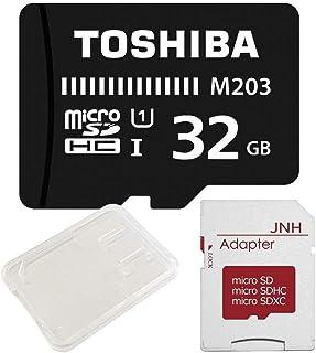 東芝 Toshiba microSDHC 32GB + SD アダプター + 保管用クリアケース [バルク品]