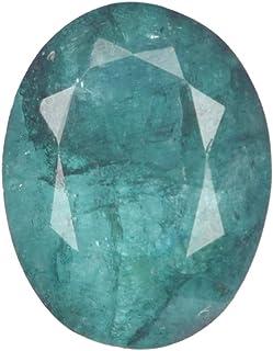 Real Gems 6.50 Piedras Preciosas Sueltas 100% Naturales certificadas por CTS, Piedras Preciosas de Talla Ovalada Verde Esm...