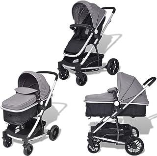 Nishore 2-i-1 Buggy barnvagn hopfällbar barnsportbil   för spädbarn och småbarn   regnskyddshuva   kan användas från födse...