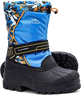 Boys Girls Insulated Waterproof Cold-Weather Snow Boots