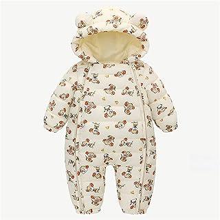 الوليد طفلة صبي مقنع سستة الدب الأذن snowsuit سترة الشتاء معطف قميص رومبير بذلة (Color : BG, Size : 100)
