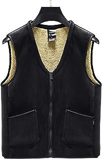 TieNew Men's High Pile Fleece Vest, Warm Soft Comfort Lightweight Full Zip Sleeveless Jacket Body Warmer Outdoor Jacket Gi...