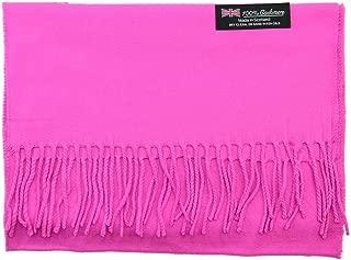 Hot Pink Wholesale Lot Unisex 100% CASHMERE SCOTLAND Scarf Pure Solid Colored Super Soft 6 pcs #CPAS