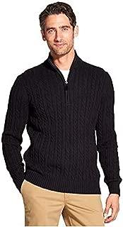 IZOD Men's Premium Essentials Cable Knit 1/4 Zip Sweater