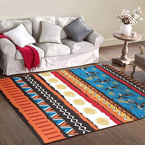 WQ-BBB Alfombra Bonita Duradero Rug Decoración Colorida de Estilo Tradicional Negro Blanco Azul marrón Rojo Alfombra Pelo Corto Mesa De Centro La Alfombrae 45X75cm