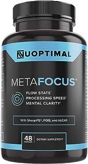 metaFOCUS by Nuoptimal - Premium Nootropic Brain Booster Supplement for Focus, Mental Clarity, Concentration, Mood, & Memo...