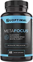 metaFOCUS by Nuoptimal - Premium Nootropic Brain Booster Supplement for Focus, Mental Clarity, Concentration, Mood, & Memo...
