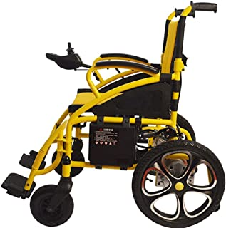 FTFTO Inicio Accesorios Silla de Ruedas eléctrica para Personas Mayores y discapacitados Silla de Ruedas eléctrica Plegable y Liviana para discapacitados y Ancianos Movilidad Amarilla