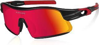 Polarizadas Gafas de sol Deportivas con 4 Lentes Intercambiables para Hombres Mujeres Ciclismo Correr Conducir Pesca Golf Gafas de béisbol QE0049