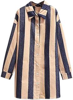 Loose Women Blouse Long Sleeve Striped Open Women Tops Female Shirt Package Hips Long Blouse Summer Plus Size