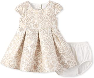Baby Girls Printed Jacquard Dress
