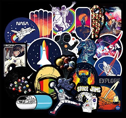 Vinyl Universe NASA Stickers Pack 100 Pcs Space Explorer Stickers Astronaut Decals for Laptop Ipad Car Luggage Water Bottle Helmet