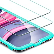 ESR Tempered-Glass for iPhone 11 Screen Protector/iPhone XR Screen Protector [2 Pack][Easy Installation Frame][Case Friendly], Premium Tempered Glass Screen Protector for iPhone 11/iPhone XR