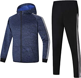 M/&S/&W Mens Athletic Full Zip Tracksuit Jogging Sweatsuit Activewear Stand Collar Top