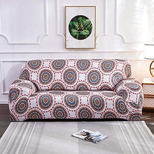 Copridivano elasticizzato elasticizzato per soggiorno Asciugamano per divano in stile Boemia Copridivano per divano anti-polvere completamente avvolto Braccio per poltrona Fodera per divano A4 4 posti