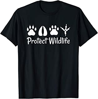 TIANLANGHB Protect Wildlife Design for Animal Lovers T-Shirt