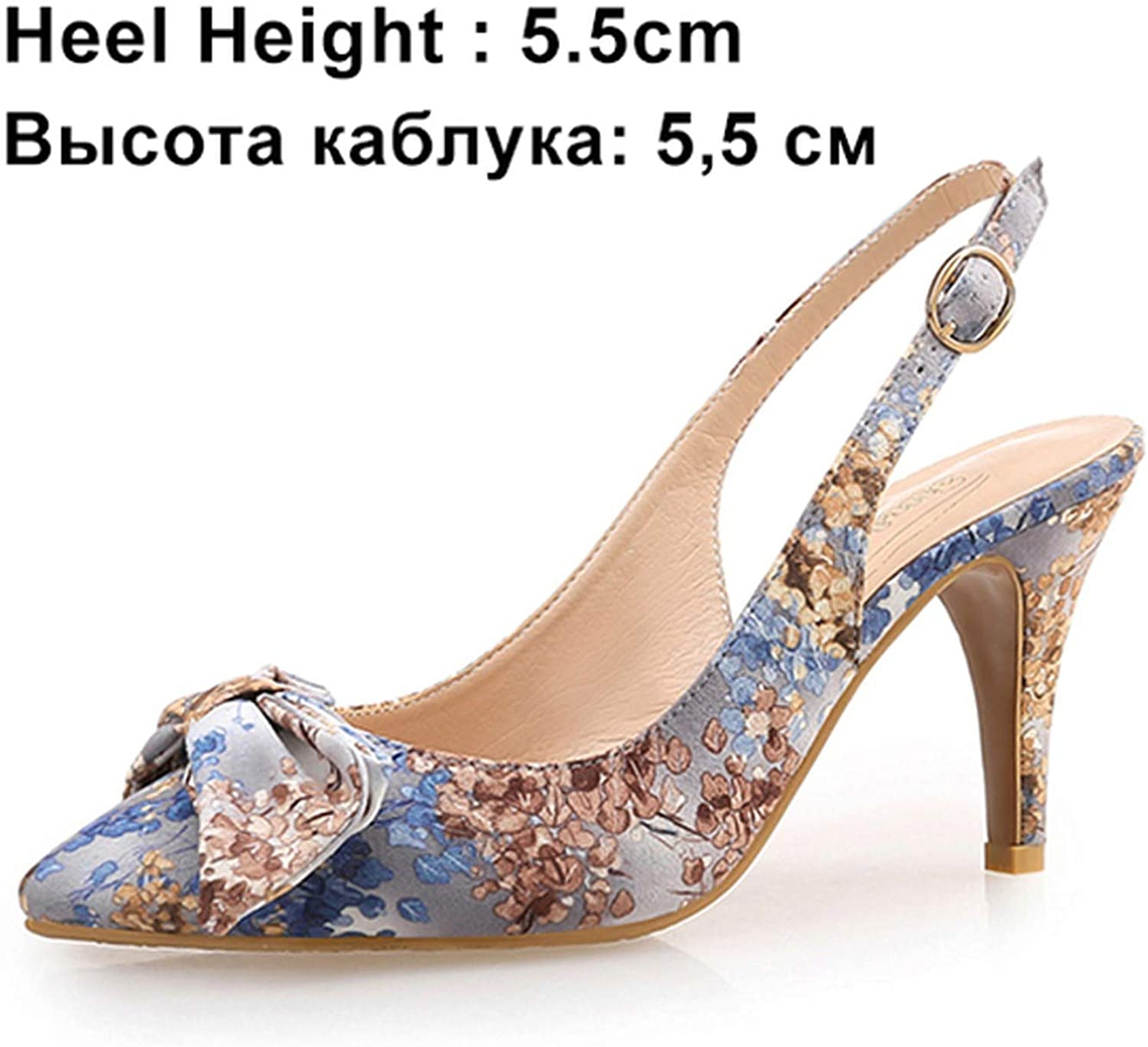 I Need-You Women Pumps High Heels shoes Female Butterfly-Knot Wedding shoes Thin Heel Embroidered Cloth Party Ladies shoes Plus Size