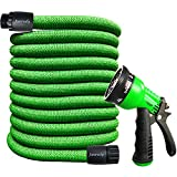 Junredy 25ft Garden Hose Expandable Flexible Water Hose with 8 Function Spray...