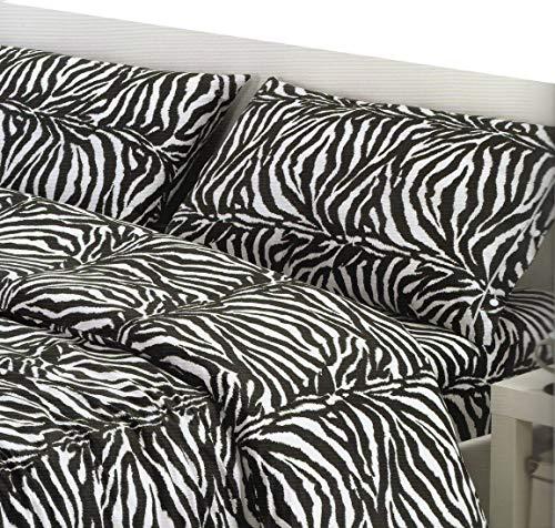 copripiumino zebrato matrimoniale megawebstore Copripiumino in 100% Cotone per Letto Matrimoniale 2 Piazze Zebra Zebrato
