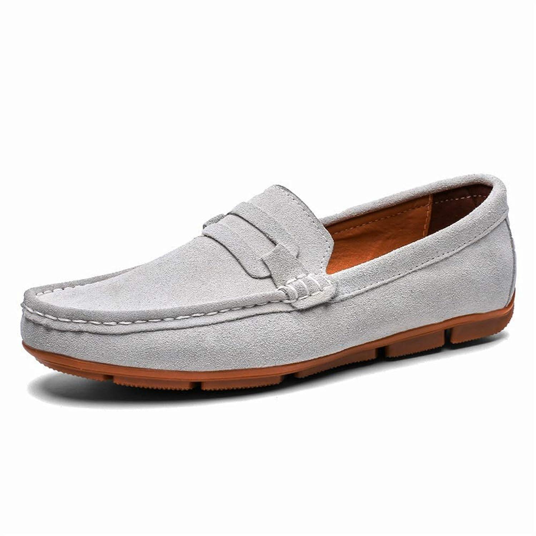 [Jusheng-shoes] メンズシューズ ファッションスエードペニーローファー用男性軽量通気性ドレスカジュアルシューズ滑り止めフラットスリップオンラウンドトゥ カジュアルシューズ