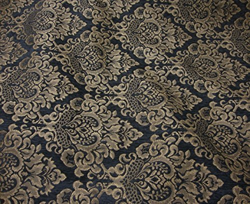 Chenille Floral Damask Fabric - 5