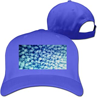 Aiamu Unisex Classic White Cloud Blue Sky Baseball Cap Cotton Skull Cap Black