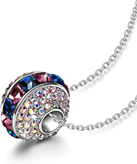 LADY COLOUR Christmas Necklace Gifts for Women Ferris Wheel Bead Pendant Multicolored Charm Jewelry, Crystals from Swarovski Hypoallergenic Jewelry Gift BoxPacking, Nickel Free Passed SGS Test