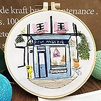 フランスの庭の花の初心者刺繍生地糸の素材バッグDIY 3Dの風景針仕事クロスステッチキットの壁の絵 (Color : France Garden 04)