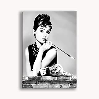 RTYHJ P/óster de Audrey Hepburn en lienzo y arte de pared 20 x 30 cm para decoraci/ón de dormitorio familiar impresi/ón moderna
