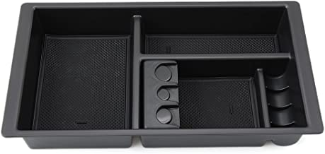RaxTDM Car Center Console Armrest Box Glove Box Secondary Storage Console Organizer Insert Tray For Chevy Silverado GMC Sierra Yukon 2015-2018 (full console w/bucket seats ONLY)